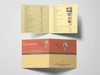 Menu For The Restaurant LA Clochette