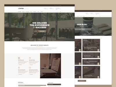 ENTER - Business Template web design ux ui template html corporate business