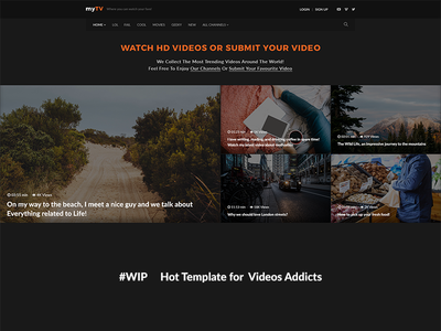 Video Template  psd template series podcast video