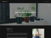 Doux One Page HTML Template - Dark Demo