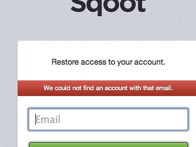 Restore access to your account. sqoot apple crisp forgot password