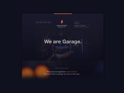 Garage : Barcelona page landing marketing branding dark barcelona beer brewery responsive website
