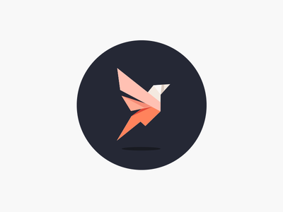 Bird speed growth tech branding logo triangle color geometric bird