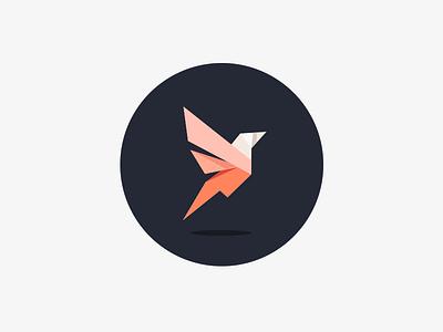 Bird speed growth tech branding logo triangle color geometric bird