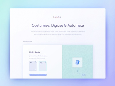 Homepage : Human Benefits homepage ux intereface user experience saas product interaction human resources design thinking concept development art direction