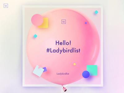 Hello Ladybirdlist! social media art direction branding product design user experience desktop ladybirdlist webapp