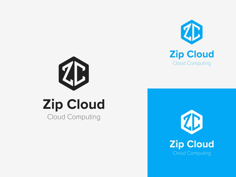 Zip Cloud - Daily Logo Challenge Logo 14/50 minimalist server data cloud computing cloud cumulous zipcloud hexagon typography lettermark logotype graphic design branding design dailylogo dailylogochallenge logo branding adobe illustrator adobe