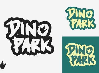 35/50 Daily Logo Challenge - Dinosaur Amusement Park typogaphy graphic logo design museum branding dailylogo dailylogochallenge parks amusement big ferns world prehistoric dinosaur park dino