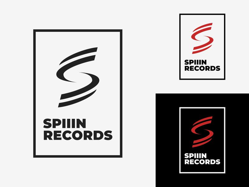 36/50 Daily Logo Challenge - Record Label logotype music first lean spiiin label record label record identity adobe illustrator graphic design dailylogochallenge logo branding