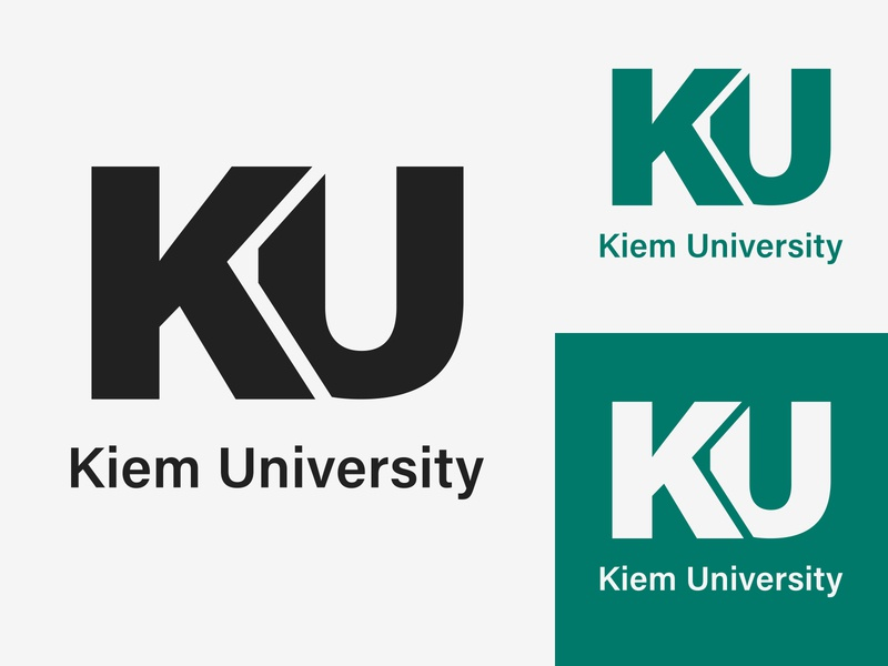 38/50 Daily Logo Challenge - College/University kiem academy allen cutting university college monogram graphic graphicdesign adobe minimalist logo design dailylogo dailylogochallenge branding