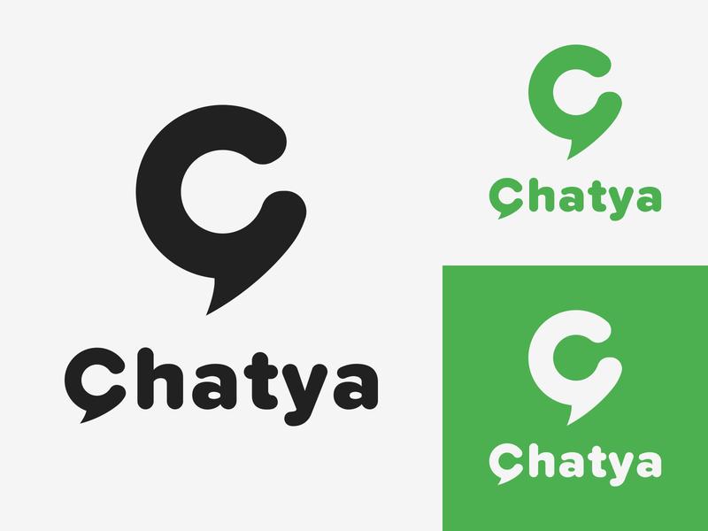 39/50 Daily Logo Challenge - Messaging App graphic design messenger whatsapp chatya shout bounce pingpong ping pong graphic graphicdesign branding design logotype minimalist dailylogo design dailylogochallenge logo branding