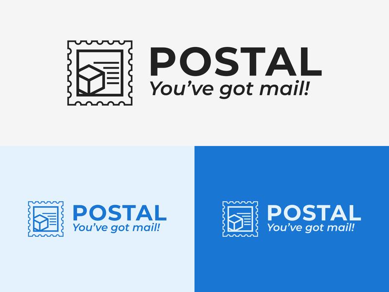 42/50 Daily Logo Challenge - Postal Service package service stamp adobe minimalist branding design logotype graphic design logo branding dailylogo dailylogochallenge airship speedy postal