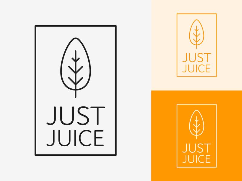 47/50 Daily Logo Challenge - Juice branding design illustration minimalist branding thin outline logotype dailylogo dailylogochallenge graphic logo design just smooth juice beach