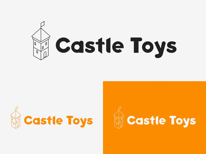49/50 Daily Logo Challenge - Toy Store isometric logotype branding design graphic design logo branding dailylogo dailylogochallenge children kids store town toys castle