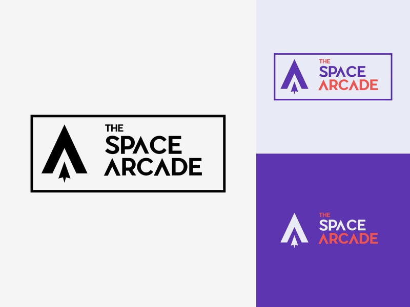 50/50 Daily Logo Challenge - Video Game Arcade branding adobe design graphic dailylogo dailylogochallenge minimal retro logotype logo game design jump paradise pinball joystick space arcade game video game video