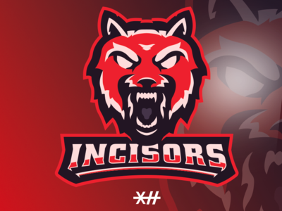 "Wolf Mascot Logo ""Incisors"""