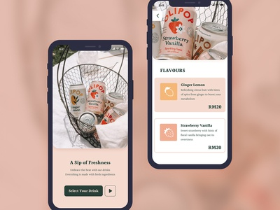 Lolipop Drink App Design