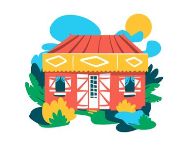 Case créole memories naif tropical garden case house reunion island