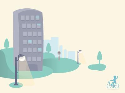 Neighborhood illustration stick man