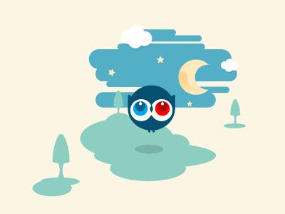 the Owl illustration minimalist