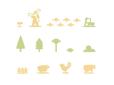Map iconset (farm) icon iconset map symbols