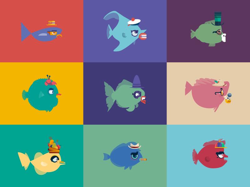 Catch Your Fish fish charadesign vector illustration