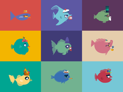 Catch Your Fish fish charadesign vector illustration