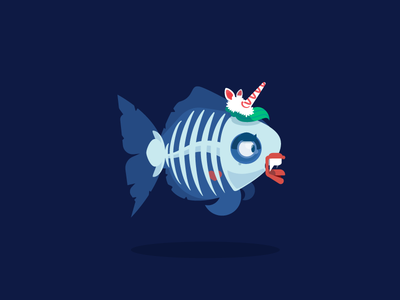 Death Fish skull fish customisation vector