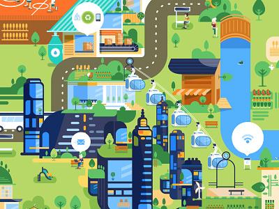 Good Futur Map vector city map ecology