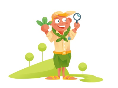 The Great explorer newworld nature boy-scout explorer illustration vector