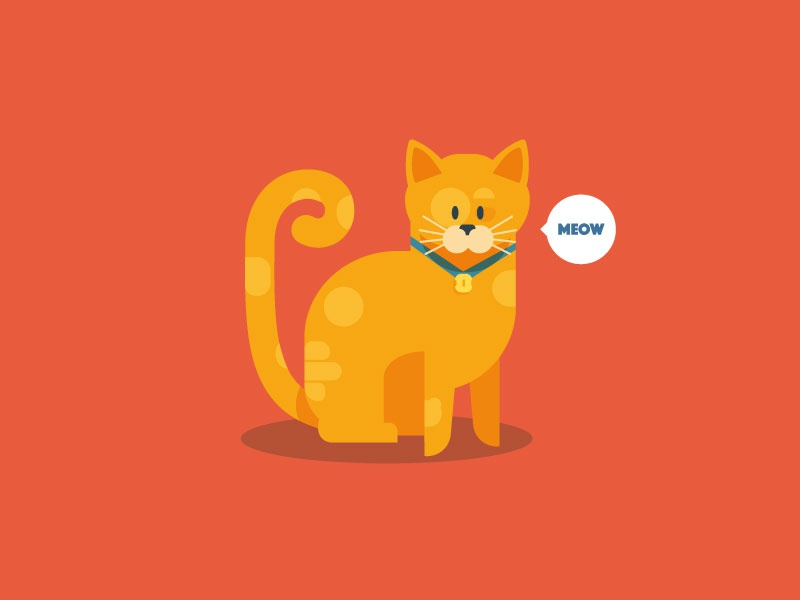 Meow Cat illustration vector cat