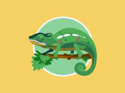 Totem 1/12, The Chameleon  colorfull vector animal