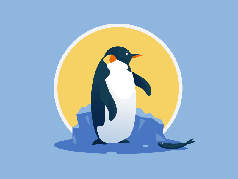 Totem 2/ 12, The Penguin illustrator penguin minimalist vector animal