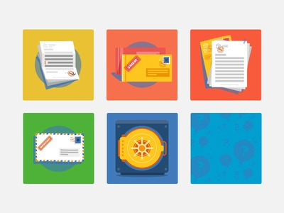 Legal advice icons colorfull illustrator icons letters ai vector illustration