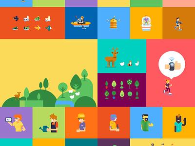 Good Futur, Good Life vector illustration flat