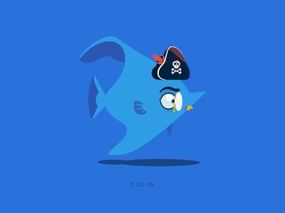 April fool's experiment fish random character illustration vector flat