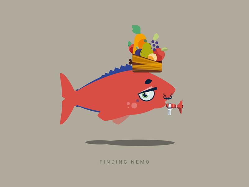 April fool's experiment #2 character generator fish random character illustration vector flat