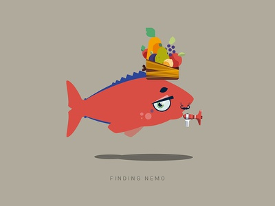 April fool's experiment #2 character generator fish random character illustration vector flat