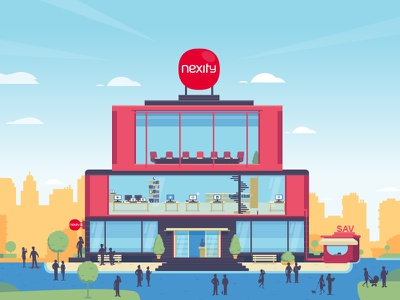 E-reputation building wip building city illustration vector flat