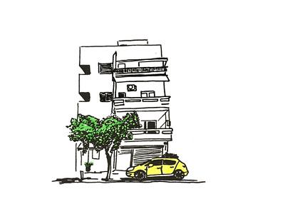BUILDING. LIFE IN THE CITY life telaviv design minimal urban art street building city life draw street art city tel aviv art sketch line art illustration graphic artist graphic studio graphic design graphic art