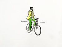 THE MAN WITH THE CITY BIKE