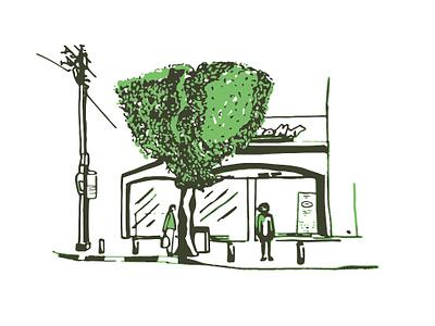 TLV Streets. City Life. Pizza Hut urban art draw simple city life street street art city tel aviv telaviv graphic studio graphic design art line art graphic artist graphic art adobe illustrator ecoline faber castell sketch illustration
