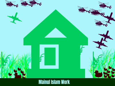 Beautiful House Design With Photoshop by Mainul Islam by drawing shape brush illustrator photoshop graphicdesign