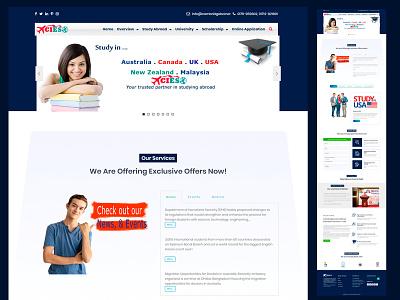 Student Consultancy firm - WordPress Websites Design wordpress development website design and development website design student