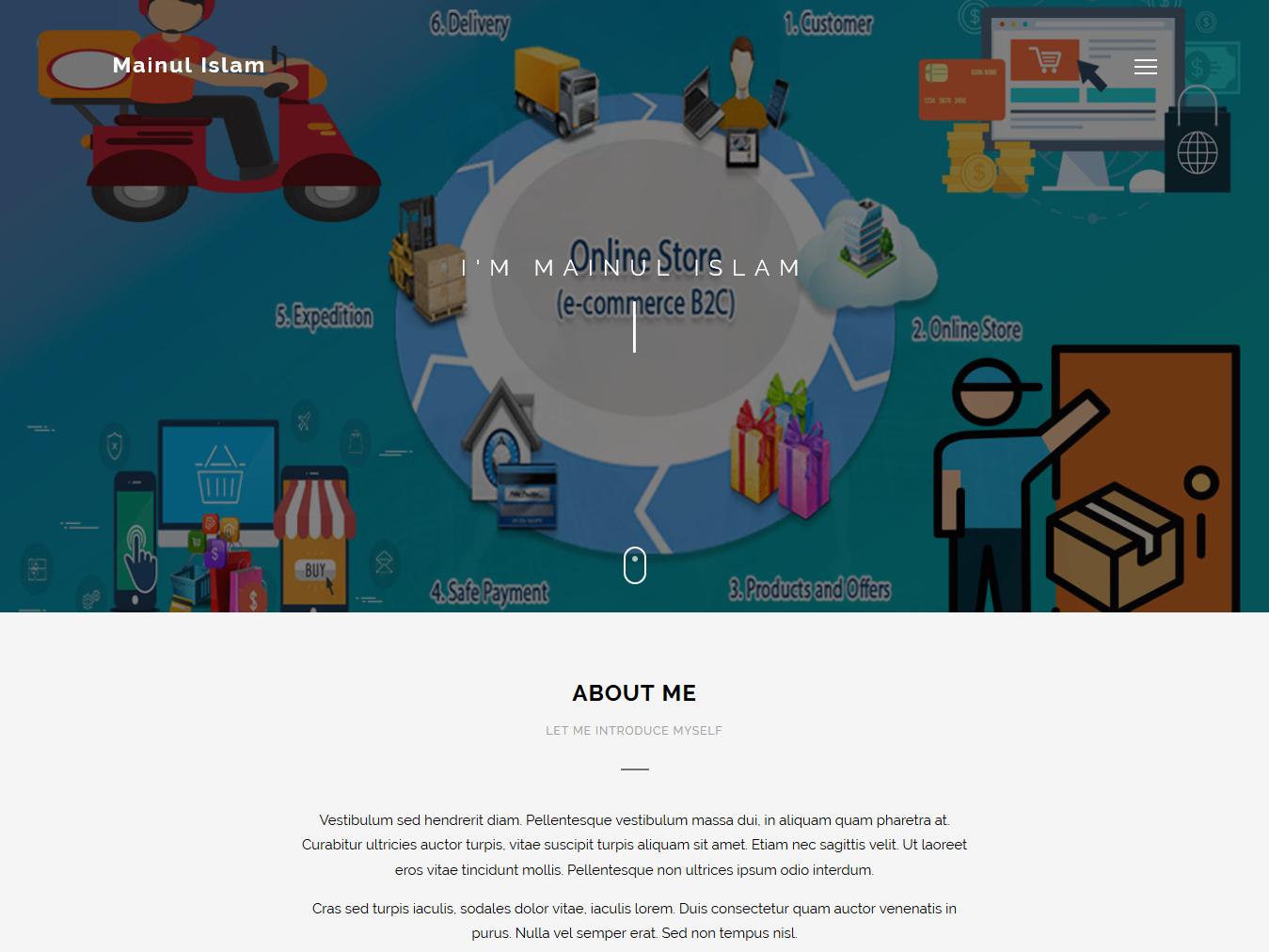 Dynamic Wordpress Portfolio by Mainul Islam on Dribbble
