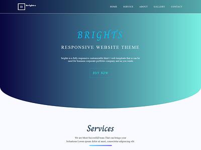 Brights Html 5 Website Responsive Template ux  ui ux ui design html template html 5 html css web site design