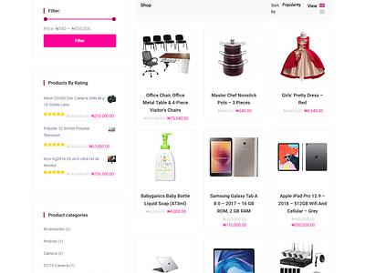 Products Shop Page For  Gonjo Store Ecommerce Website design online shop shop online store woocommerce woocommerce theme wordpress development web site design ecommerc ecommerce business