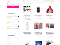 Products Shop Page For  Gonjo Store Ecommerce Website