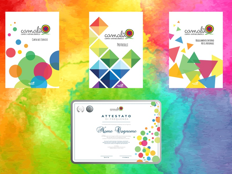 Centro Extrascolastico Camalù's documents design kids design