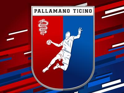 Before and after Logo Handball Ticino branding